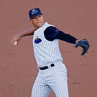 Rodriguez playing for the Trenton Thunder, the Yankees' AA affiliate, in 2013