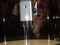 Newly announced iPhone on display at the 2007 MacWorld Expo