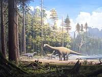 Dinosaurs were the dominant terrestrial vertebrates throughout most of the Mesozoic