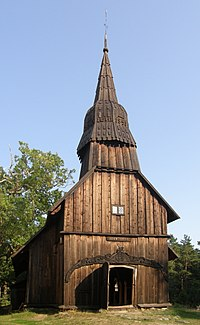 Ruhnu stave church, built in 1644, is the oldest surviving wooden building in Estonia