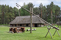 A traditional farmhouse built in the Estonian vernacular style