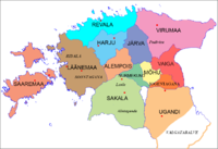 Independent counties of Ancient Estonia in the beginning of the 13th century