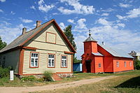 A Russian Old Believer village with a church on Piirissaar island