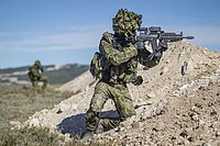 Estonian soldiers during a NATO exercise in 2015