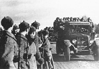 The Red Army entering Estonia in 1939 after Estonia had been forced to sign the Bases Treaty