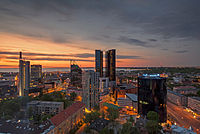The central business district of Tallinn