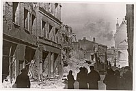 The capital Tallinn after bombing by the Soviet Air Force during the war on the Eastern Front in March 1944