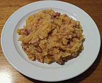 Mulgipuder, a national dish of Estonia made with potatoes, groats, and meat. It is very traditional food in the southern part of Estonia.