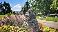 Memorial cairn at Grimston Park in New Westminster