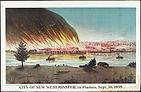City of New Westminster in flames, Sept. 10, 1898