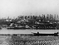 A view of New Westminster from the Fraser River, circa 1865