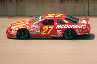 Jimmy Spencer driving the No. 27 at Michigan in 1994