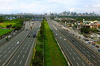 The South Luzon Expressway, Skyway and the PNR Metro Commuter Line in Metro Manila.