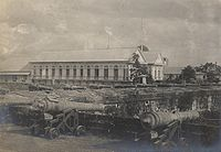 Spanish artillery along the walls of Intramuros to protect the city from local revolts and foreign invaders.