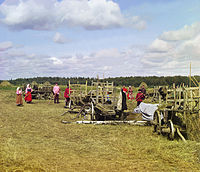 Peasants in Russia (photograph taken by Sergey Prokudin-Gorsky in 1909)