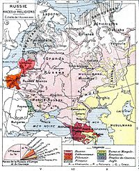 Ethnic map of European Russia before World War I