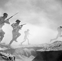 During the Second World War, the Eighth Army was made up of units from many different countries in the British Empire and Commonwealth; it fought in North African and Italian campaigns.