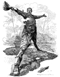 """The Rhodes Colossus—Cecil Rhodes spanning """"Cape to Cairo"""""""