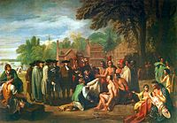 The Treaty of Penn with the Indians by Benjamin West, painted in 1771
