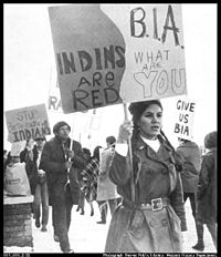 National Indian Youth Council demonstrations, Bureau of Indian Affairs Office