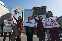 Protest against the name of the Washington Redskins in Minneapolis, November 2014