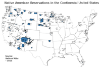 Indian reservations in the continental United States