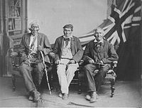 1882 studio portrait of the (then) last surviving Six Nations warriors who fought with the British in the War of 1812