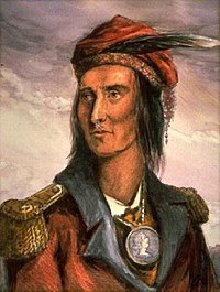 Tecumseh was the Shawnee leader of Tecumseh's War who attempted to organize an alliance of Native American tribes throughout North America.