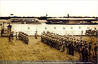 The Viceroy of India arrives in the Port of Dhaka in 1908
