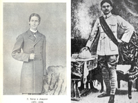 Rabindranath Tagore (while in London in 1879) and Kazi Nazrul Islam (while in the British Indian Army in 1917-1920)