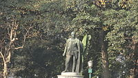 Statue of Lord William Bentinck in Calcutta Victoria Memorial. As Governor-General, Bentinck made English the medium of instruction in schools and phased out Persian.