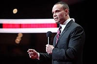 """In June 2020, Dan Bongino (pictured) announced he had purchased an """"ownership stake"""" in Parler. The company has declined to provide a full list of owners."""