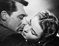 Cary Grant and Ingrid Bergman in Notorious (1946). RKO made over $1 million profit on the coproduction with David O. Selznick's Vanguard Films.