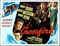 Crossfire (1947) was a hit, but no American studio would hire blacklisted director Edward Dmytryk again until he named names to HUAC in 1951. Producer Adrian Scott wouldn't get another screen credit for two decades. He died before he could see it.