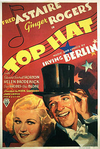 Fred Astaire and Ginger Rogers, the only performers ever to make the annual list of top box office stars while with RKO. Top Hat (1935) was the fourth of the nine films in which they costarred between 1933 and 1939.