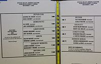 """The """"butterfly ballot"""" used during the 2000 election in Palm Beach County"""