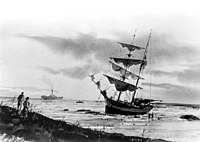 The ship Providencia, wrecked off the coast of Florida, in 1878.