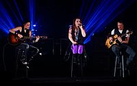"""American rock band Evanescence debuted at number one with their single """"Bring Me To Life"""" and their album """"Fallen"""" in 2003 and started their massive international success."""
