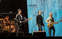 Irish band U2 scored four number-ones in this decade.