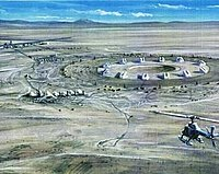 Concept drawing of early NASA site idea