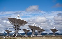 Location filming began in September 1996 at the Very Large Array in New Mexico