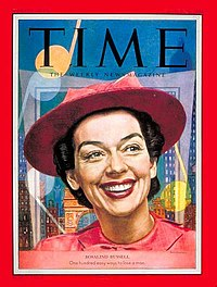 Rosalind Russell in Wonderful Town, on the cover of Time (March 30, 1953)