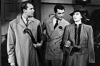 With Cary Grant and Ralph Bellamy in His Girl Friday (1940)