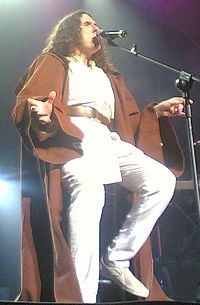 """Yankovic performing """"The Saga Begins"""" in Auckland, New Zealand, on March 10, 2007. Both Don McLean and George Lucas have reportedly expressed approval of the parody."""