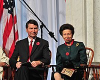 The Princess Royal with her husband, Vice Admiral Sir Timothy Laurence