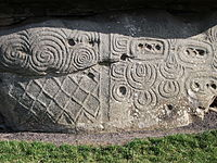 Megalithic art on one of the kerbstones