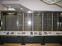 Harvard Mark I, one of the earliest computers, made by IBM in Endicott