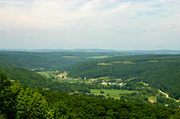 Canisteo River Valley in the Allegheny Plateau