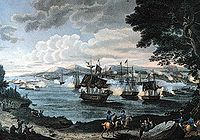 1816 engraving of the Battle of Plattsburgh