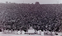 Opening ceremony at Woodstock
